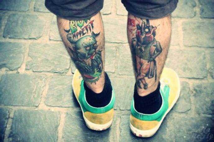 25 Simplistic Leg Tattoos For Men That Exactly What You Are Looking For