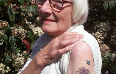 old women with tattoo